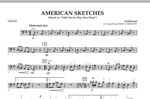James Curnow American Sketches - Cello sheet music notes and chords. Download Printable PDF.