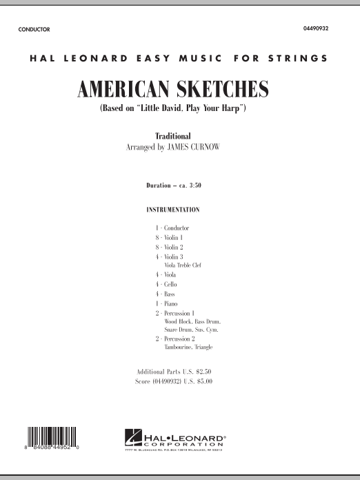 James Curnow American Sketches - Full Score sheet music notes and chords. Download Printable PDF.