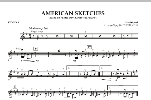 James Curnow American Sketches - Violin 1 sheet music notes and chords. Download Printable PDF.