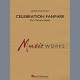 Download James Curnow 'Celebration Fanfare (On a Theme by Haydn) - Bb Clarinet 3' Printable PDF 3-page score for Concert / arranged Concert Band SKU: 413722.