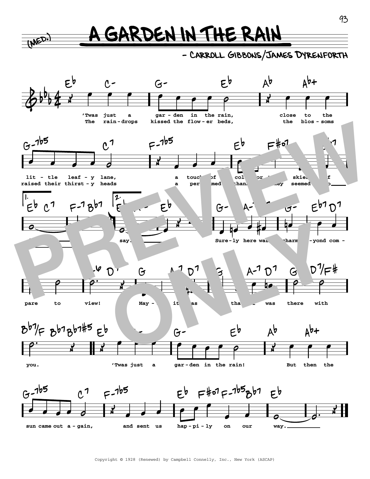 James Dyrenforth A Garden In The Rain (High Voice) sheet music notes and chords. Download Printable PDF.
