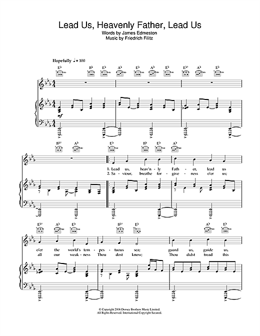 James Edmeston Lead Us Heavenly Father, Lead Us sheet music notes and chords. Download Printable PDF.
