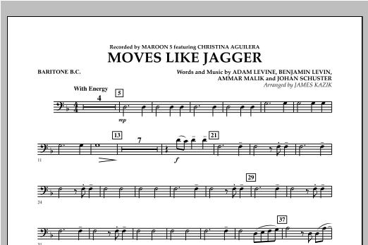 James Kazik Moves Like Jagger - Baritone B.C. sheet music notes and chords. Download Printable PDF.