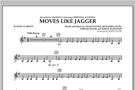 James Kazik Moves Like Jagger - Bb Bass Clarinet sheet music notes and chords. Download Printable PDF.