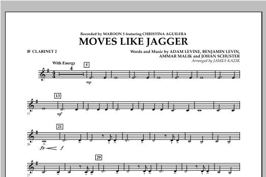 James Kazik Moves Like Jagger - Bb Clarinet 2 sheet music notes and chords. Download Printable PDF.