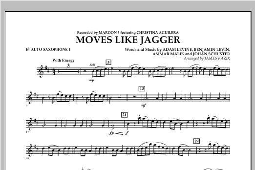 James Kazik Moves Like Jagger - Eb Alto Saxophone 1 sheet music notes and chords. Download Printable PDF.