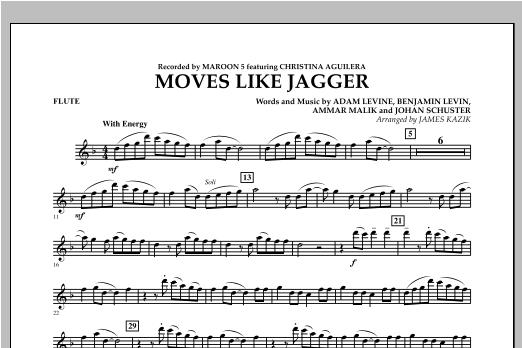 James Kazik Moves Like Jagger - Flute sheet music notes and chords. Download Printable PDF.