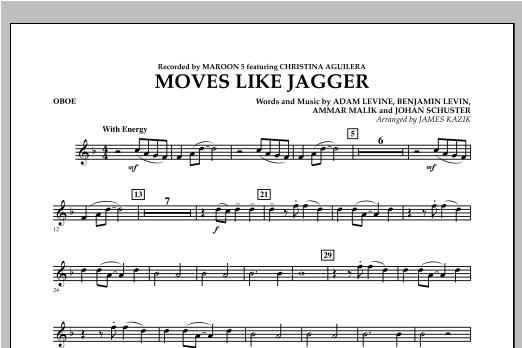 James Kazik Moves Like Jagger - Oboe sheet music notes and chords. Download Printable PDF.