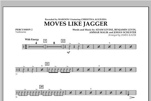 James Kazik Moves Like Jagger - Percussion 2 sheet music notes and chords. Download Printable PDF.