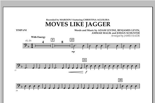 James Kazik Moves Like Jagger - Timpani sheet music notes and chords. Download Printable PDF.