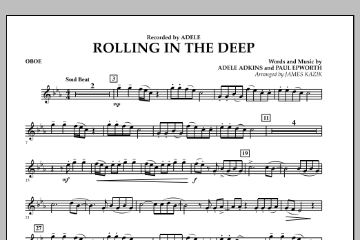 James Kazik Rolling In The Deep - Oboe sheet music notes and chords. Download Printable PDF.