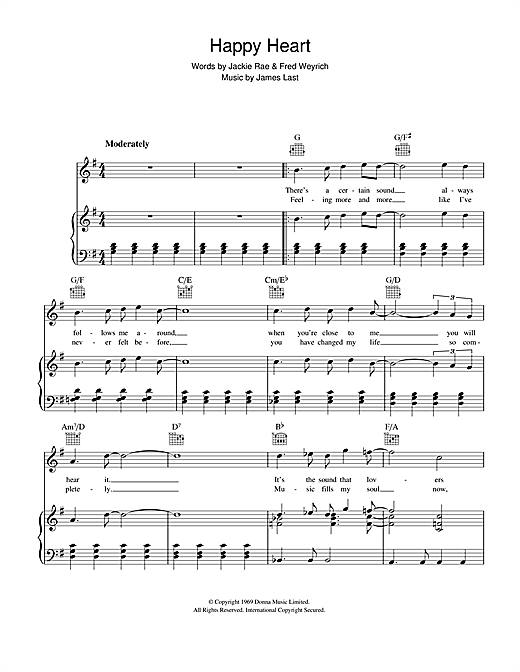James Last Happy Heart sheet music notes and chords. Download Printable PDF.