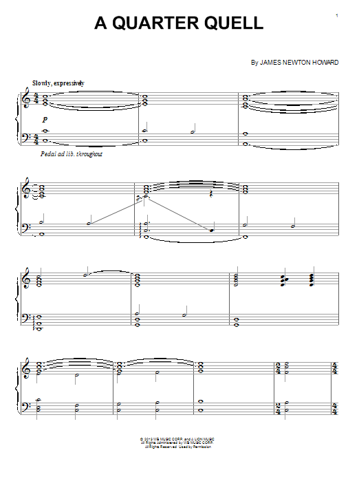 James Newton Howard A Quarter Quell sheet music notes and chords. Download Printable PDF.