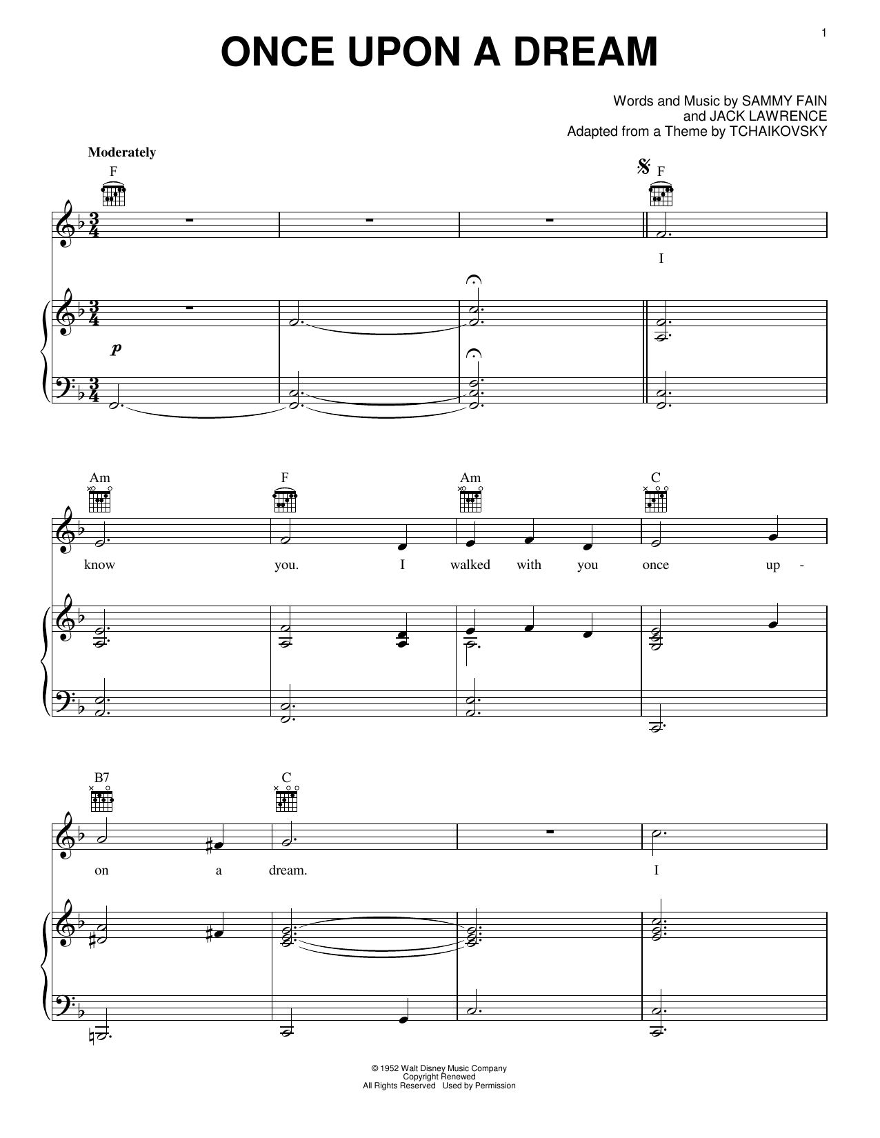 James Newton Howard Once Upon A Dream sheet music notes and chords