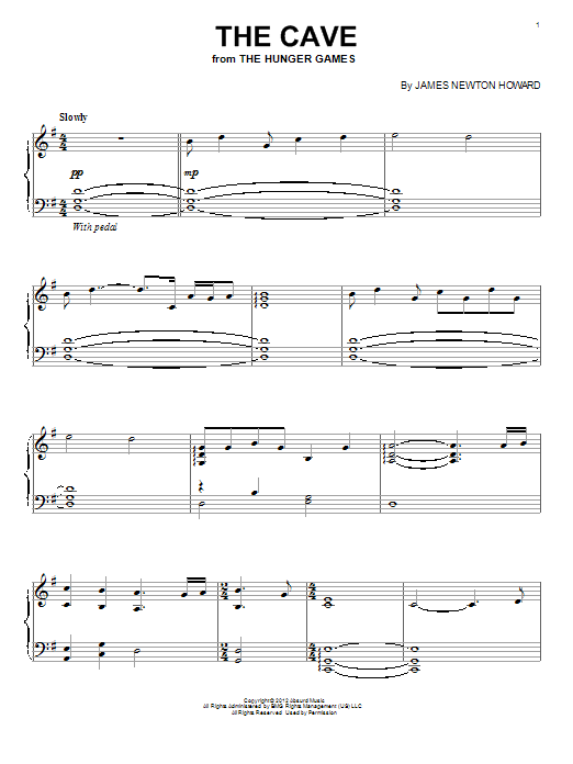 James Newton Howard The Cave sheet music notes and chords