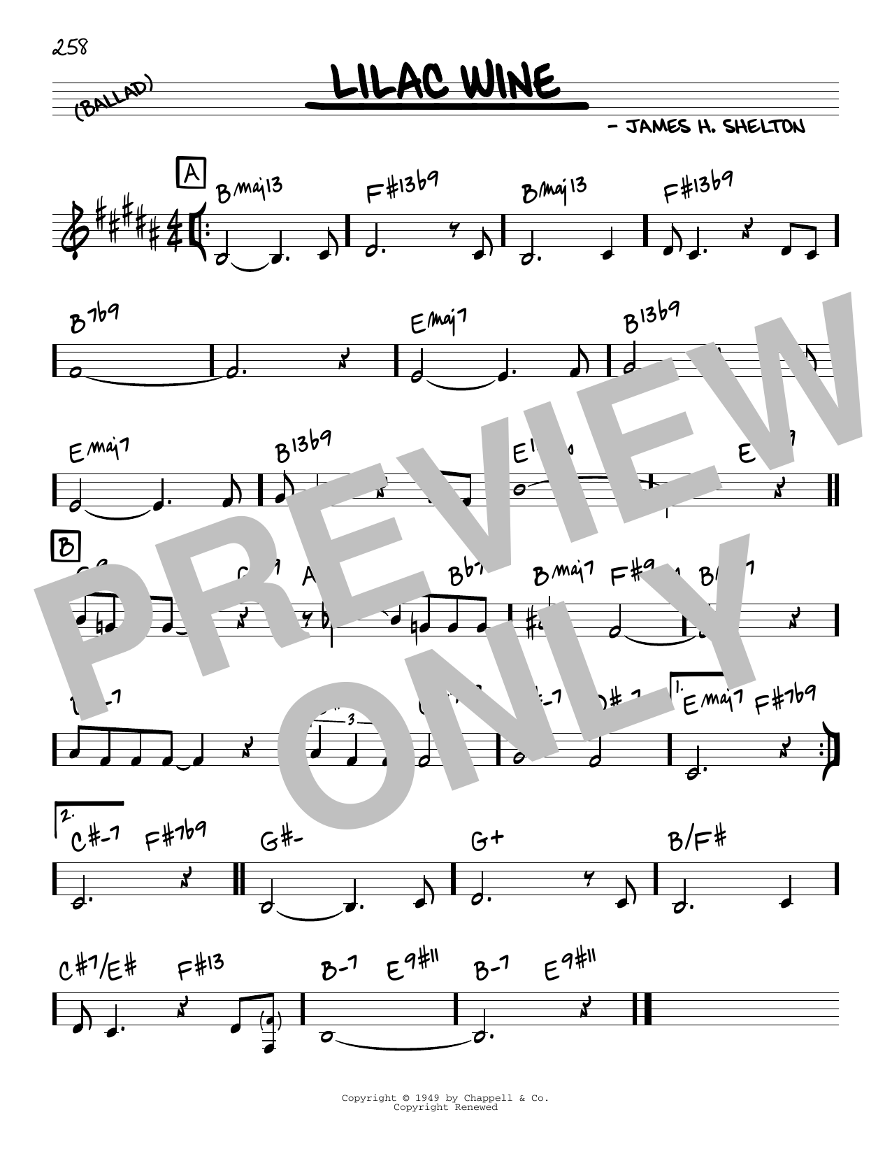 James Shelton Lilac Wine sheet music notes and chords. Download Printable PDF.