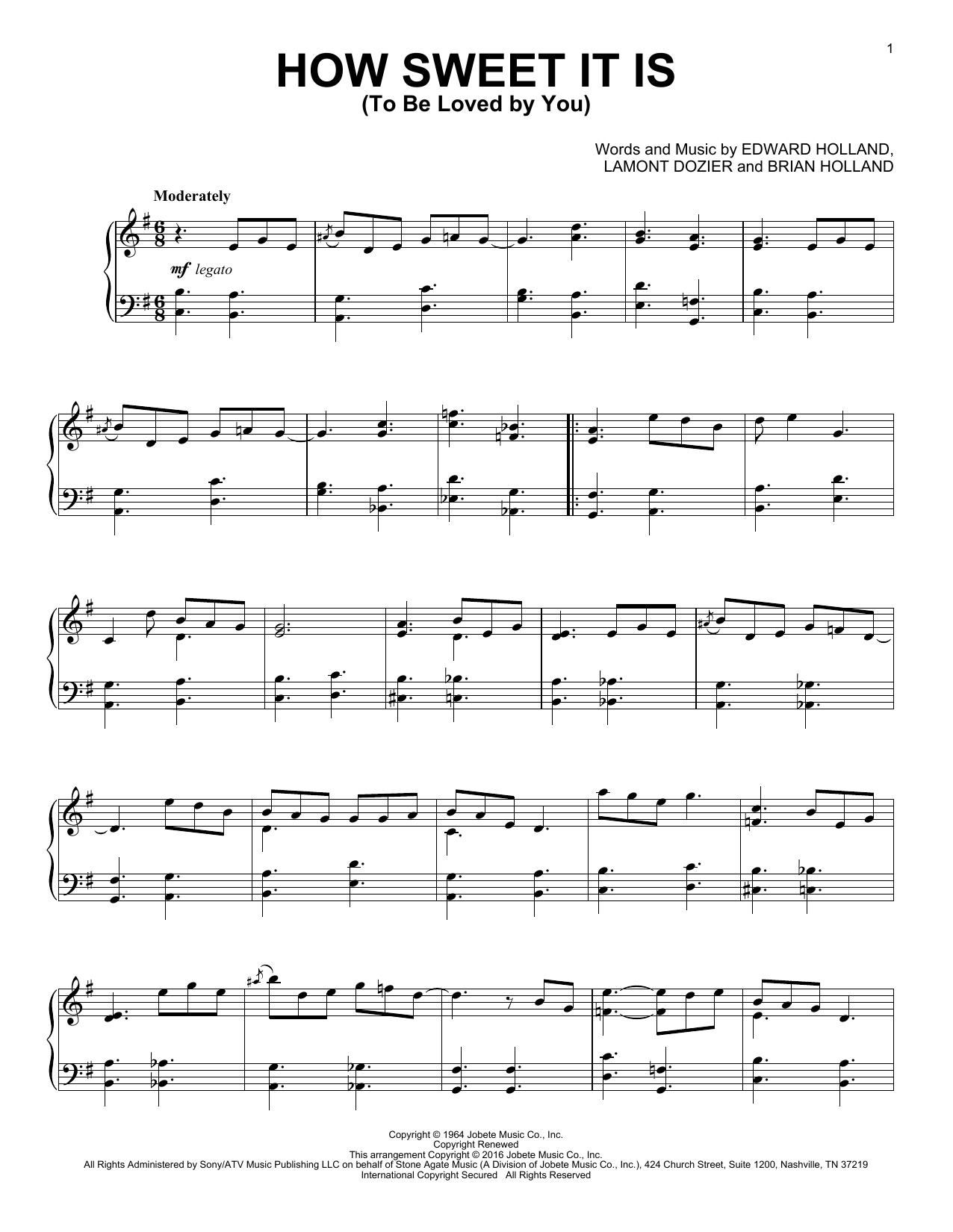 James Taylor How Sweet It Is (To Be Loved By You) [Jazz version] sheet music notes and chords. Download Printable PDF.