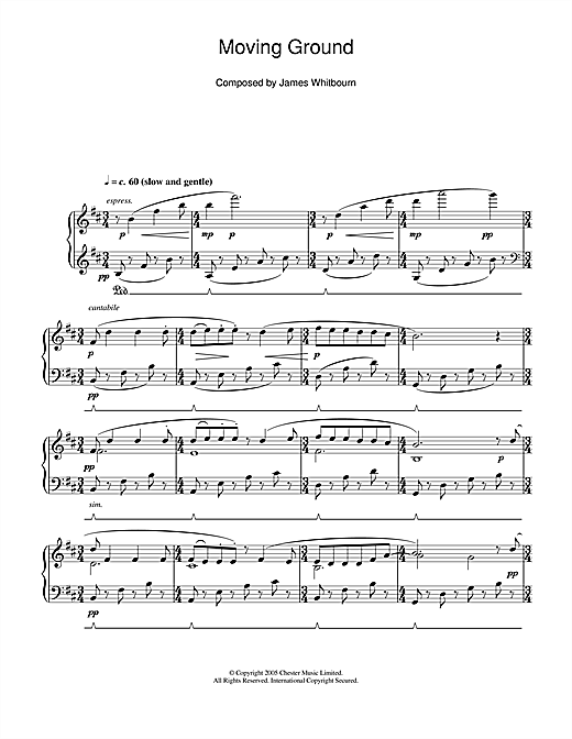 James Whitbourn Moving Ground sheet music notes and chords. Download Printable PDF.