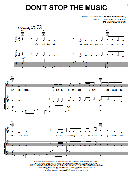 Jamie Cullum Don't Stop The Music sheet music notes and chords. Download Printable PDF.