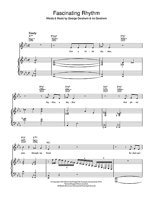 Jamie Cullum Fascinating Rhythm sheet music notes and chords. Download Printable PDF.
