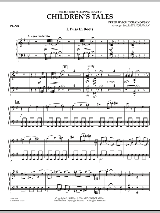 Jamin Hoffman Children's Tales (from Sleeping Beauty) - Piano sheet music notes and chords. Download Printable PDF.