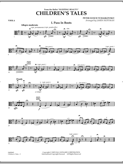 Jamin Hoffman Children's Tales (from Sleeping Beauty) - Viola sheet music notes and chords. Download Printable PDF.