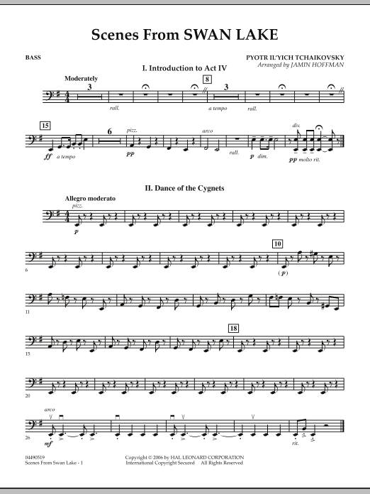 Jamin Hoffman Scenes from Swan Lake - String Bass sheet music notes and chords. Download Printable PDF.