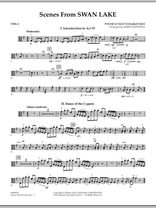 Jamin Hoffman Scenes from Swan Lake - Viola sheet music notes and chords. Download Printable PDF.