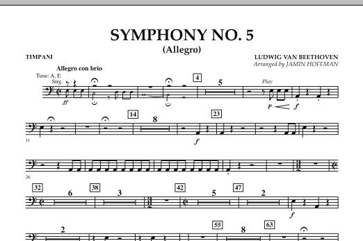 Jamin Hoffman Symphony No. 5 (Allegro) - Timpani sheet music notes and chords. Download Printable PDF.