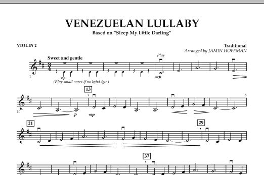 Jamin Hoffman Venezuelan Lullaby - Violin 2 sheet music notes and chords. Download Printable PDF.