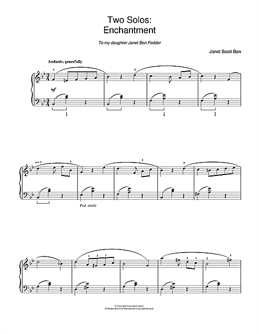 Janet Scott Bon Enchantment sheet music notes and chords. Download Printable PDF.