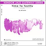 Download or print Jarvis Time To Testify - Alto Sax 1 Sheet Music Printable PDF 2-page score for Gospel / arranged Jazz Ensemble SKU: 322990.