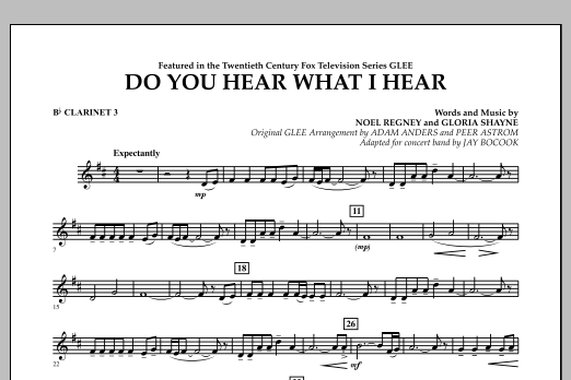 Jay Bocook Do You Hear What I Hear? - Bb Clarinet 3 sheet music notes and chords