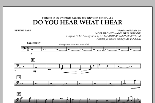 Jay Bocook Do You Hear What I Hear? - String Bass sheet music notes and chords