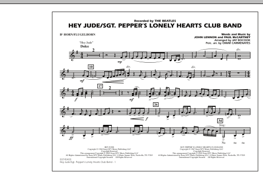 Jay Bocook Hey Jude/Sgt. Pepper's Lonely Hearts Club Band - Bb Horn/Flugelhorn sheet music notes and chords