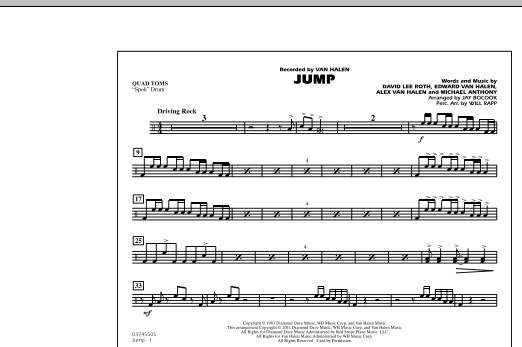 Jay Bocook Jump - Quad Toms sheet music notes and chords