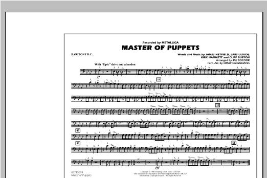 Jay Bocook Master of Puppets - Baritone B.C. sheet music notes and chords