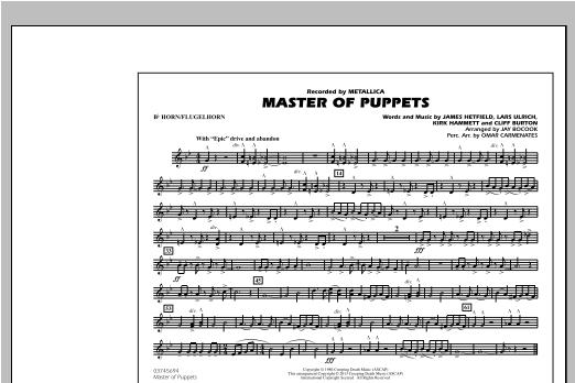 Jay Bocook Master of Puppets - Bb Horn/Flugelhorn sheet music notes and chords