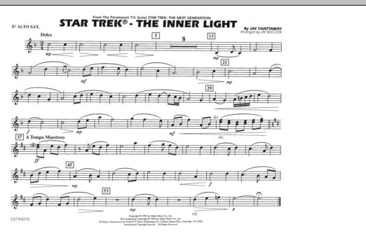 Jay Bocook Star Trek - The Inner Light - Eb Alto Sax sheet music notes and chords. Download Printable PDF.