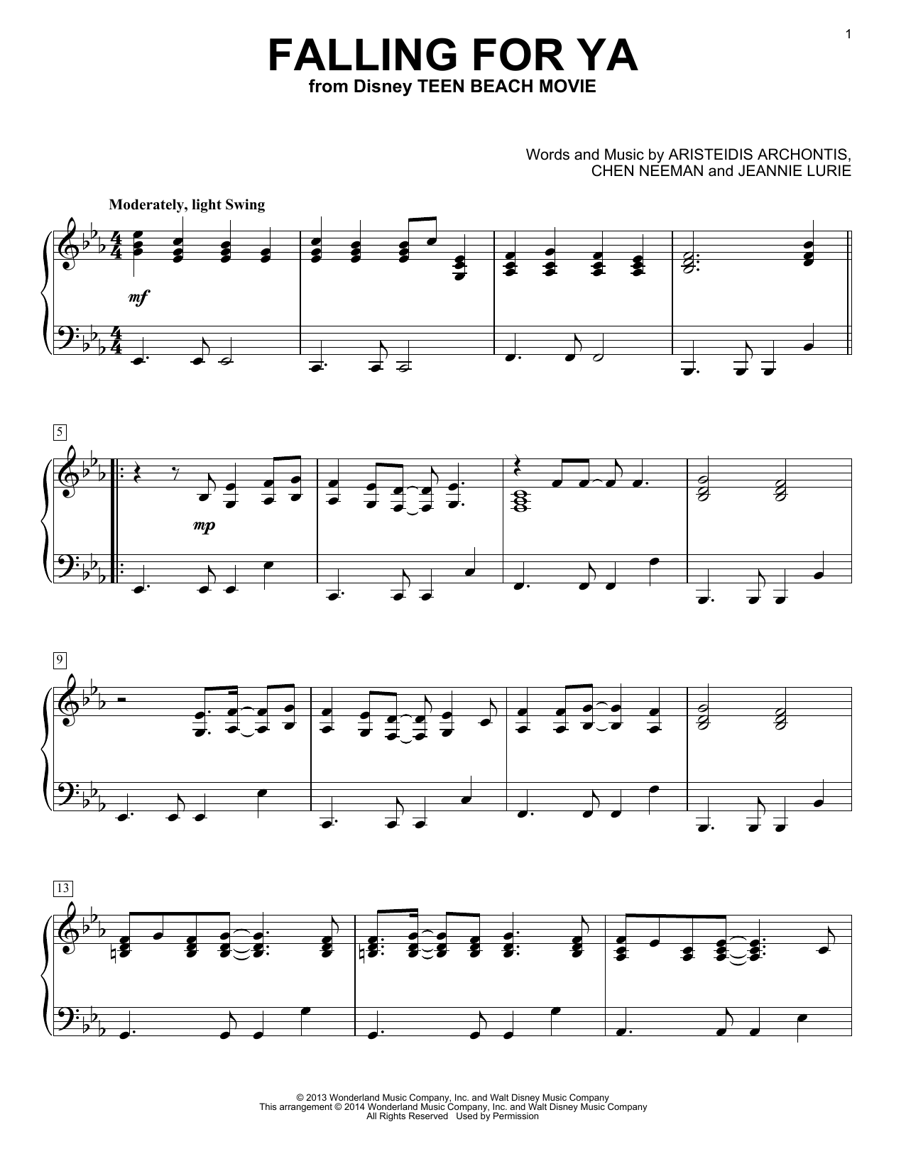 Jeannie Lurie Falling For Ya sheet music notes and chords. Download Printable PDF.