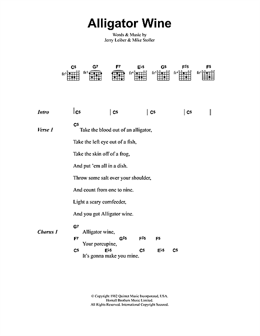 Jeff Buckley Alligator Wine sheet music notes and chords
