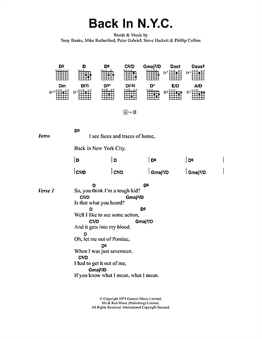 Jeff Buckley Back In N.Y.C. sheet music notes and chords. Download Printable PDF.