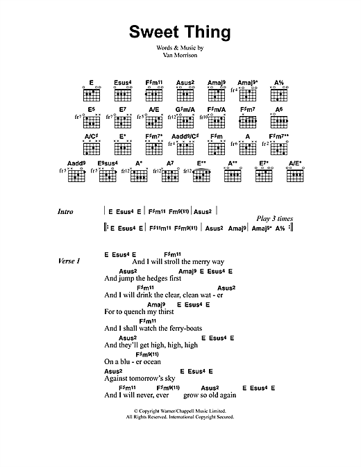 Jeff Buckley Sweet Thing sheet music notes and chords