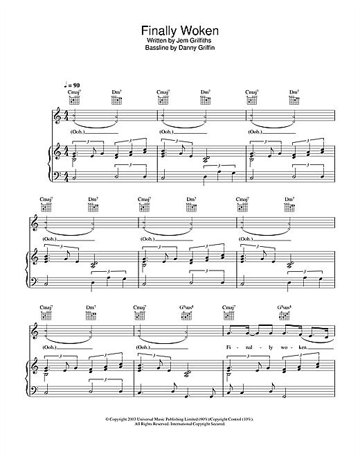 Jem Finally Woken sheet music notes and chords. Download Printable PDF.