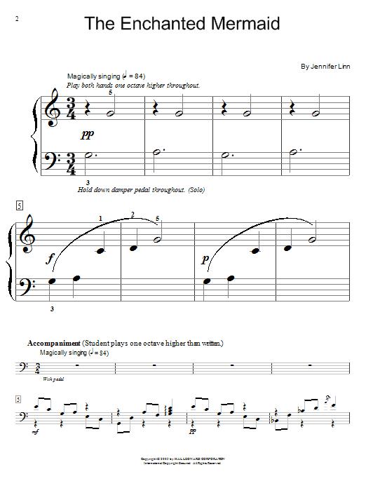 Jennifer Linn The Enchanted Mermaid sheet music notes and chords. Download Printable PDF.