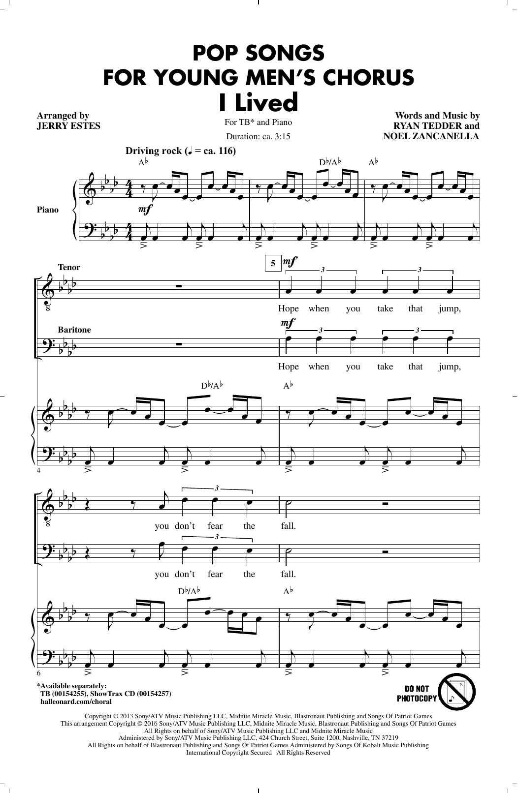 Jerry Estes Pop Songs for Young Men's Chorus sheet music notes and chords. Download Printable PDF.