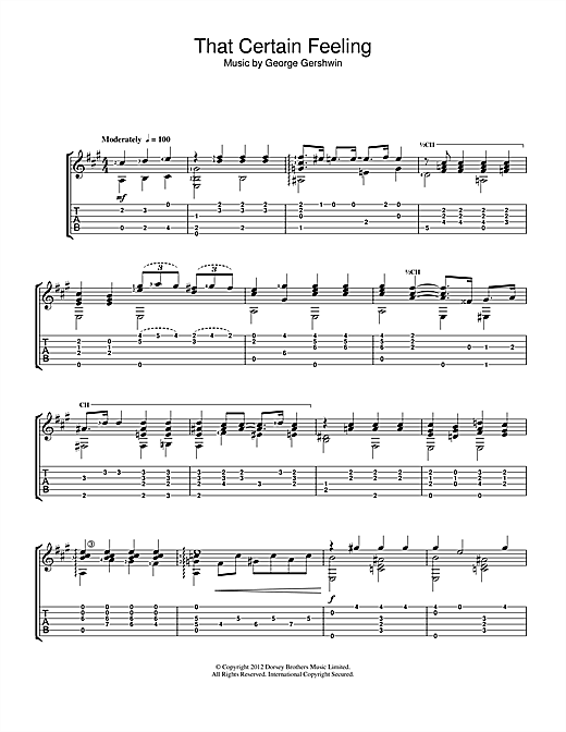 Jerry Willard That Certain Feeling sheet music notes and chords. Download Printable PDF.