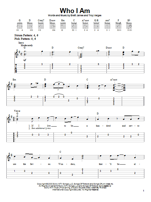 Jessica Andrews Who I Am sheet music notes and chords. Download Printable PDF.
