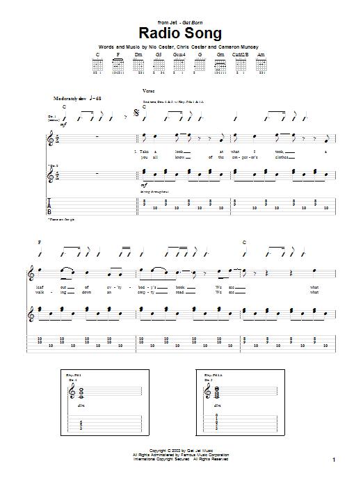 Jet Radio Song sheet music notes and chords. Download Printable PDF.