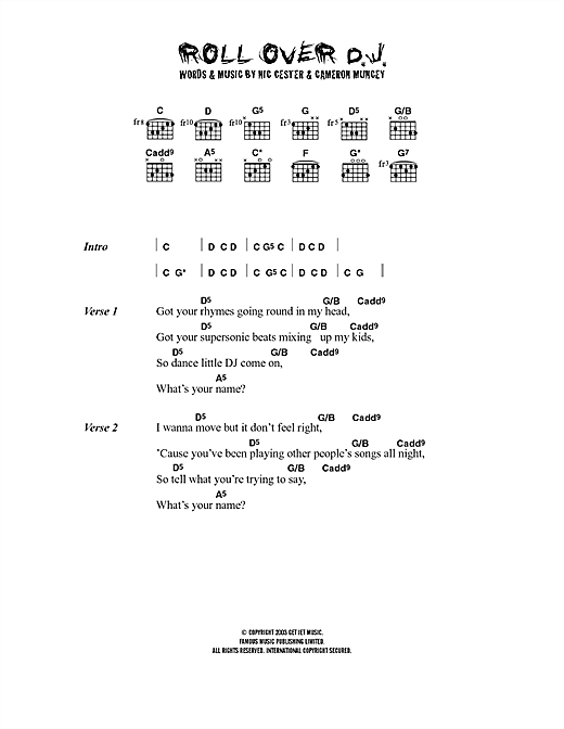 Jet Rollover D. J. sheet music notes and chords. Download Printable PDF.